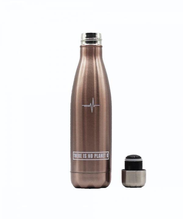 borraccia termica acciaio inox riutilizzabile ecologica ecoland.it argento rosato