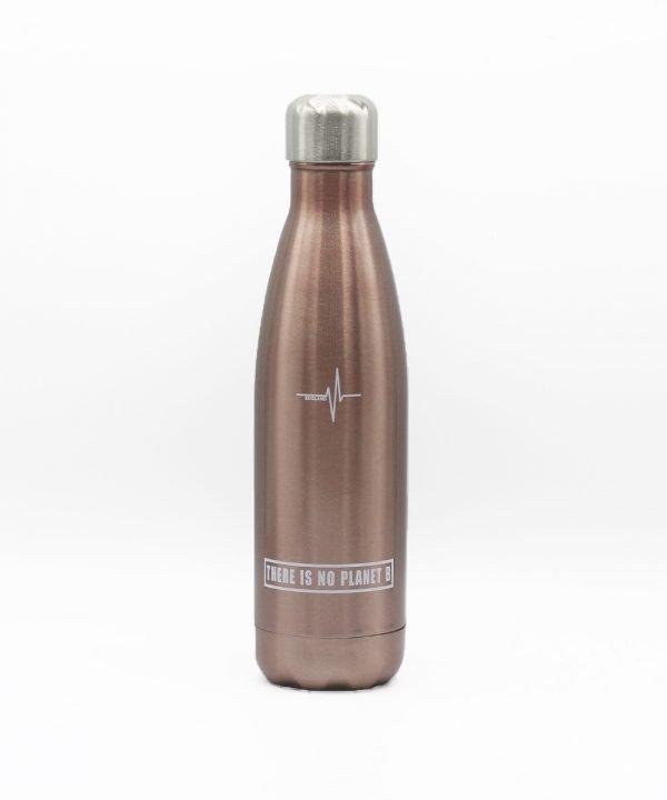 borraccia termica acciaio inox riutilizzabile ecologica ecoland.it argento rosa 1